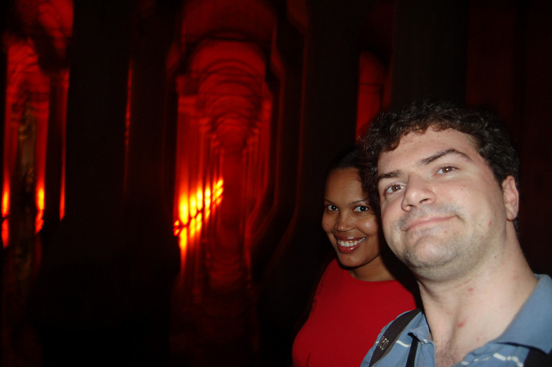 Matt + Sherry in Basilica Cistern