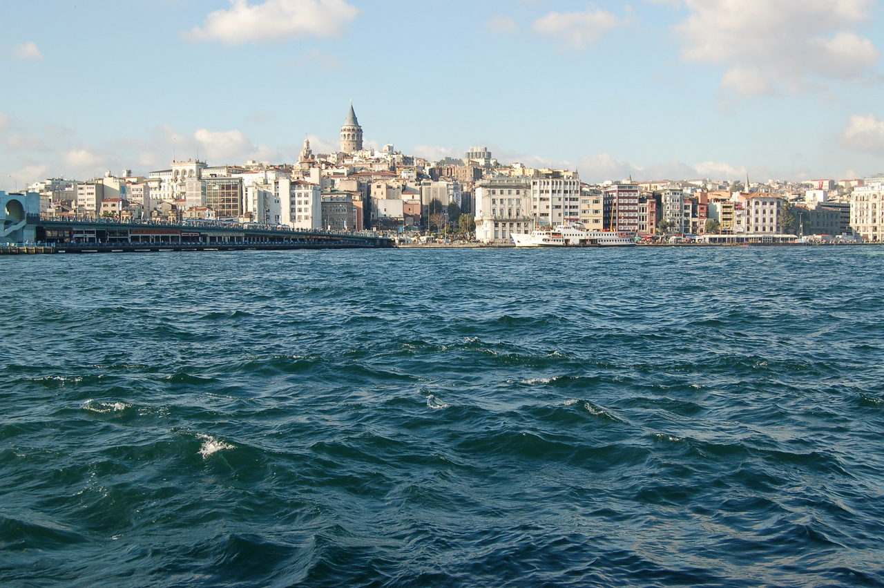 Golden horn in lovely weather