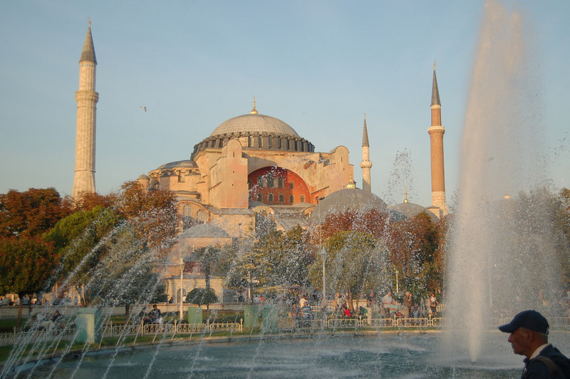 Hagia Sophia + fountains