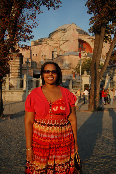 Sherry at the Hagia Sophia