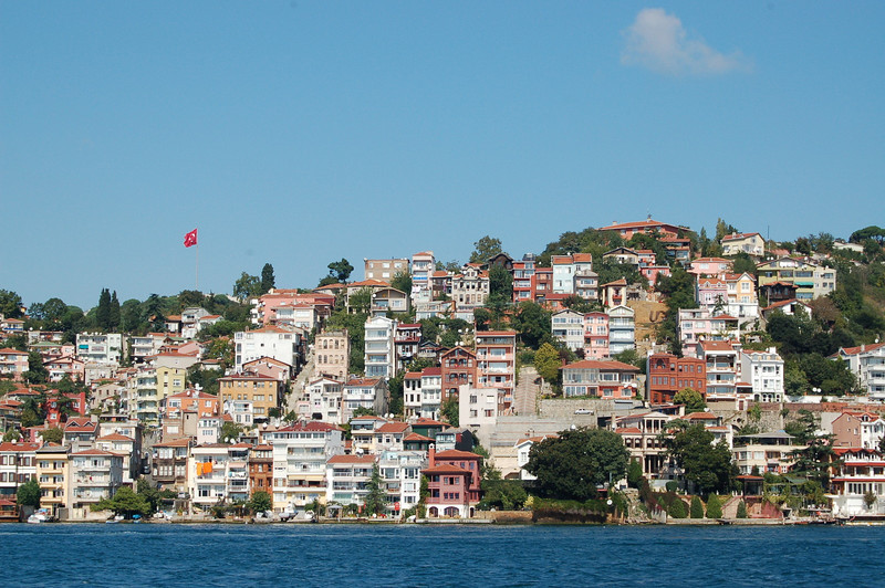 Colourful houses on Bosphorus