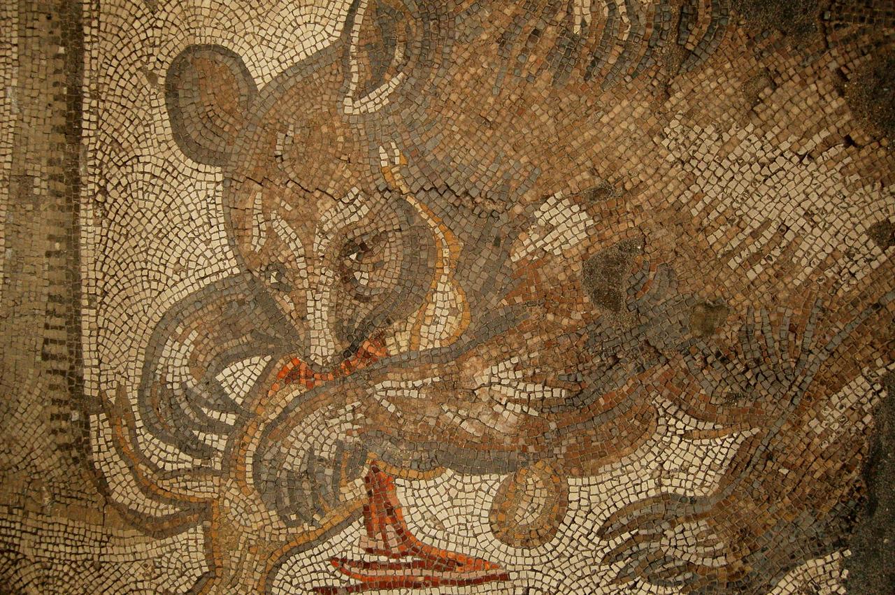 Mosaic museum bear