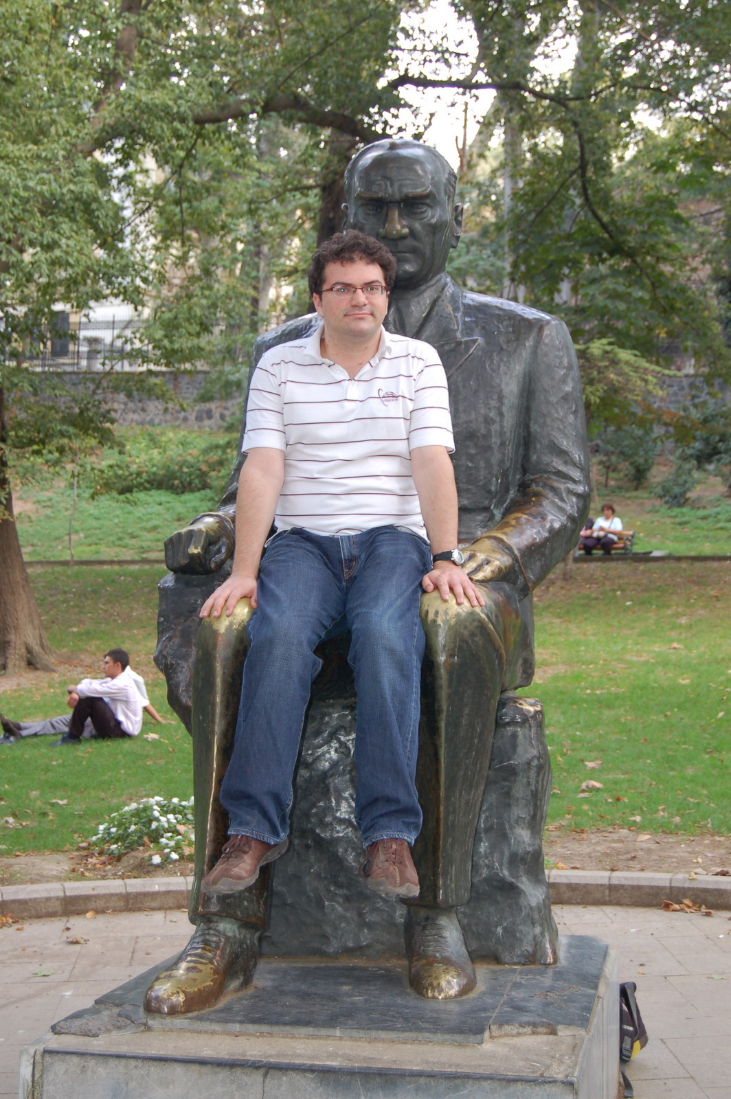 Matt in Ataturk's lap