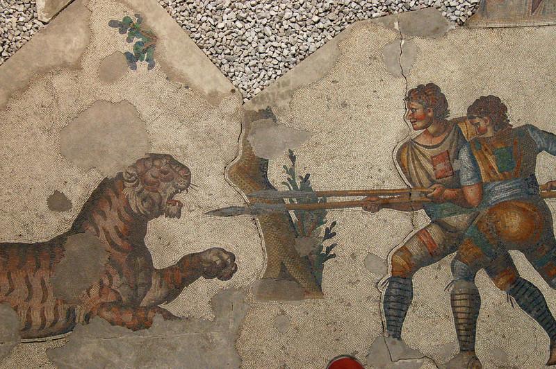 Mosaic museum tiger