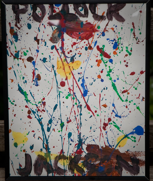 Our son Jackson Pollock painted this for his Granny and Pa