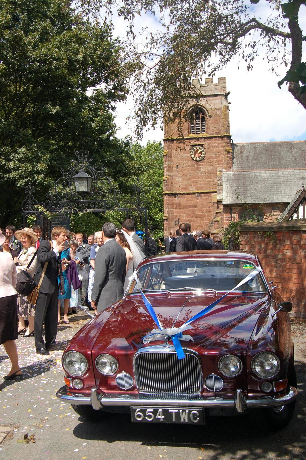 Car at church
