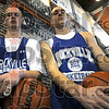 Rox: Aaron Bridge (L) and Matt King are two mainstays in the Rockville basketball program for the 2008-09 season.