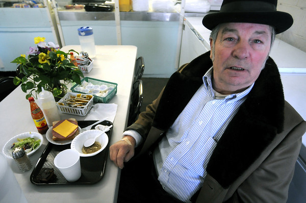 "Soup kitchen: Warren F. Maners said ""These people care"" as he lunch at the St. Pat's soup kitchen Thursday afternoon."