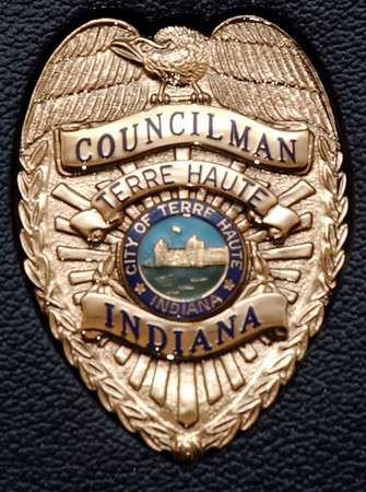 A city councilman's badge fromn the city ofTerre Haute.