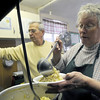 Kitchen help: Ken Gardner and Ruth Myers along with other volunteers operate the St. Pat's soup kitchen.