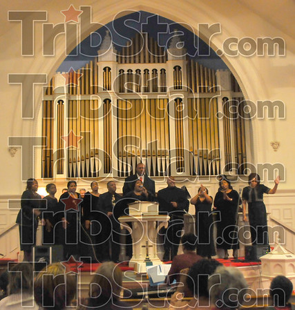 """I've seen it: The Expressions of Praise Choir sings """"My Eyes Have Seen the Glory"""" as part of the commemoration service honoring Dr. Martin Luther King Jr. Sunday afternoon."""