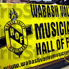Detail: Wabash Valley Musician's Hall of Fame banner.