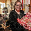 Tribune-Star/Joseph C. Garza<br /> Unleaded: Dana Street displays Friday one of the many articles of children's clothing she makes and sells out of her home-based business in Hymera. Street is concerned a new federal consumer product law will put her out of business.