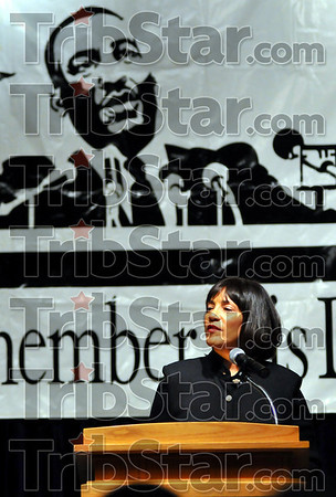 Keynote: Mrs. Vanita M. Banks delivered the King Celebratory Speech at the dinner Friday night on the ISU campus.