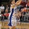 3 of her 25: Indiana State's Kelsey Luna finds an open three-point shot over the Illinois State defense Saturday at Hulman Center. Luna led all scorers with 25 points.