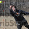 Frozen pea: Rose-Hulman student Bill Crosby lobs a frozen softball to the plate during game action Saturday afternoon.
