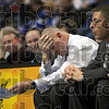 Say what?: Coach Wiedie reacts to play on the floor during his team's last minute vicory over Creighton Saturday afternoon.