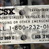 Fatal crossing: The identification number on the rail road crossing sign was the site of a fatal car/train crash in Sullivan Co. Wednesday morning.