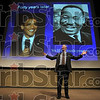 Tribune-Star/Joseph C. Garza<br /> Progress made: 1961 Freedom Rider David Fankhauser, Ph. D., discusses the progress made by the civil rights movement during his presentation Monday for Ivy Tech Community College's Martin Luther King, Jr. Day of Celebration.