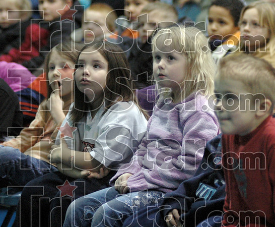And the winner is: Students at Deming Elementary School wait for the announcement of the winners of the diversity writing contest Monday afternoon.