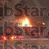Big flames: The former International Paper production facility at 2401 Prairieton Road burns during a heavy snowfall about 10p.m. Monday night.