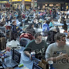 Full house: Hundreds of students jammed into the food court at Indiana State University Tuesday afternoon to watch the Inauguration of Barack Obama Tuesday afternoon.