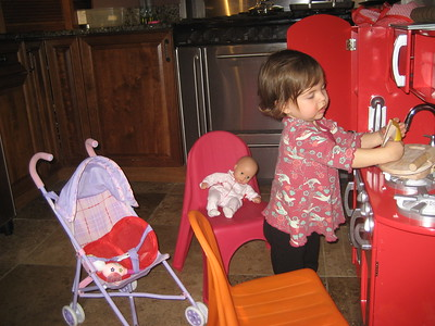 Mama Mia Breaks Bread for Baby Dot