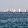 """01-18-09 Boats Calm on the Bay<br /> <br /> A race on the Bay - but no wind! Good for a long-distance shot, though. I collect these long skinny shots for posting as headers on the  <a href=""""http://www.tamvalley.org"""">http://www.tamvalley.org</a> website that I administer."""