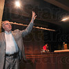 Tribune-Star/Joseph C. Garza<br /> A stage for education: Indiana State University College of Education Dean Bradley Balch describes Thursday the college's new theater which will have 450 seats.