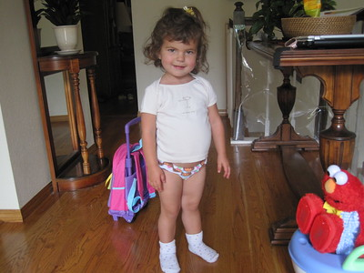 Mia in her Dora Underwear Potty Training Elmo
