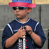 All American: Ian Knight was decked out in his Holiday finest as he attended the concert and fireworks at Fairbanks Park Sunday evening. He was there with his parents Emily and Ted Knight and little sister Isabella.