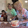 We all scream: Sue Cooper scoops ice cream for her grandson Jack Brown, up from Mississippi with his mom Beth Brown visiting at Billie Creek Village. Beth and Jack were helping with the Ice Cream Social Sunday.