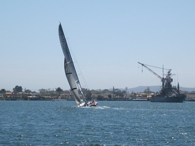 Retired Americas Cup Boat in San Diego 2009
