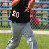 Gotcha: Riley right fielder Spence Tofaute fields a flyball in action against South Bend Saturday afternoon.