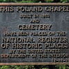 Tribune-Star/Joseph C. Garza<br /> A place in history: A National Register of Historic Places marker informs visitors of the Poland Historical Chapel's place in Clay County history.