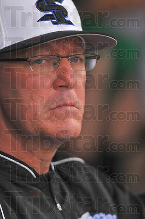Moving on: ISU head baseball coach Lindsey Meggs watches his team last May.