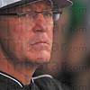 Moving on: ISU head baseball coach Lindsey Meggs watches his team last May.