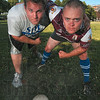 Tribune-Star/Joseph C. Garza<br /> Ready to ruck: Rugby coaches (and die-hard players) Nate Hamil and Mike Detamore hope to start a local rugby club at the high school level for next spring.