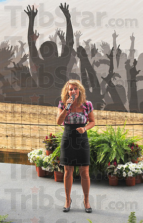 Opening act: Brittney Ledford was the first to perform in the Wabash Valley Idol competition At the Vigo County Fair.