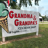 Tribune-Star/Joseph C. Garza<br /> I scream, we all scream: Grandma and Grandpa's Ice Cream Shop, owned by Bill and Wanda Smith, is open for business.