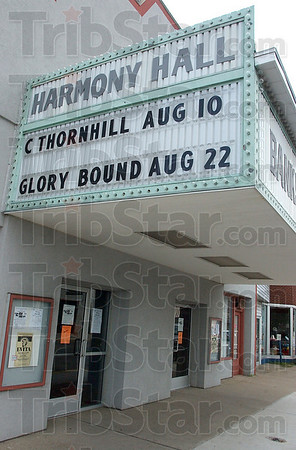Coming soon: The marquee of Harmony Hall in 12 Points announces the tribute to Claude Thornhill next month.