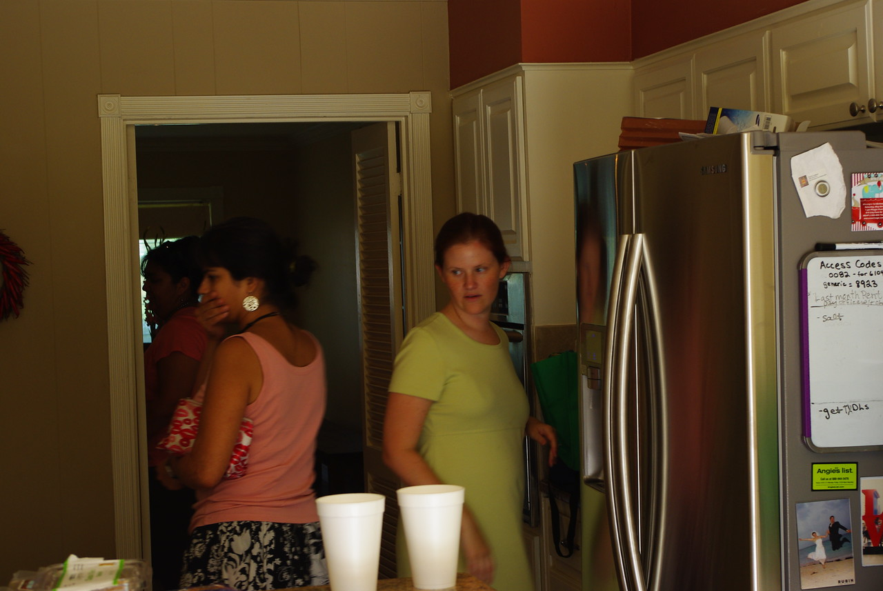The ladies worked hard to put on this shower!  Maria and MJ