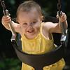 swinging at Mercury park playground
