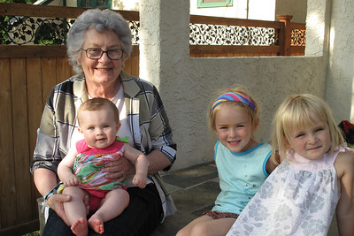 Great Grandma Joan and my cousins Amelia and Rosalind