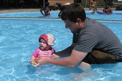 Dad gets wet!