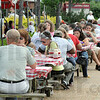 Festival goers: A large group of patrons turned out Thursday afternoon for the First Congregational Church annual Strawberry Festival.