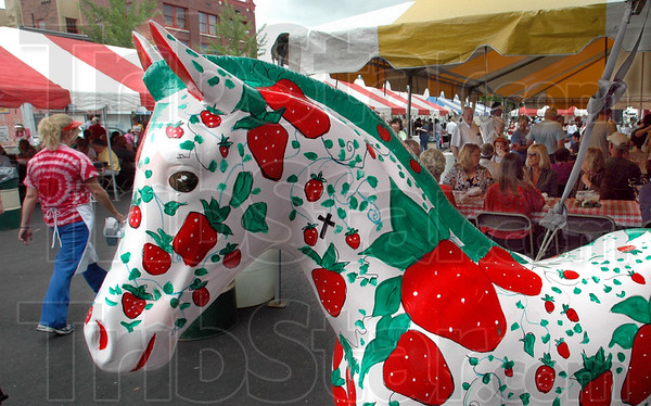 Festival fun: A large crowd attended the 41st annual Strawberry Festival Thursday afternoon in downtown Terre Haute.