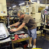 Smoothe operator: Tom Hudak quality controls transmission parts being built for a major automaker.