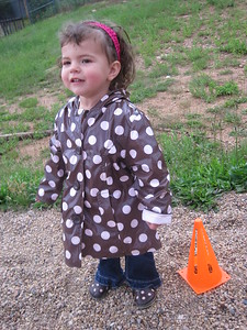 "Mia in Boulder ""Back Yard"" with Matching Polka Dot Jacket and Shoes"