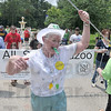 "Tribune-Star/Joseph C. Garza<br /> Sister of Providence Joseph Fillenwarth leads the All Saints Kazoo Band (with some help from Sister Jan Craven) during Family Day Sunday at St. Mary-of-the-Woods. Members of the ""band"" included mostly parents and children."